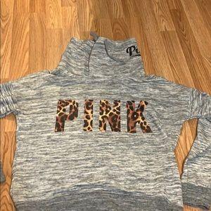 PINK cowl neck sweatshirt